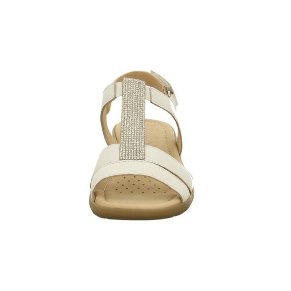 Caprice Damen 28605-102 Weiße Glattleder Sandale