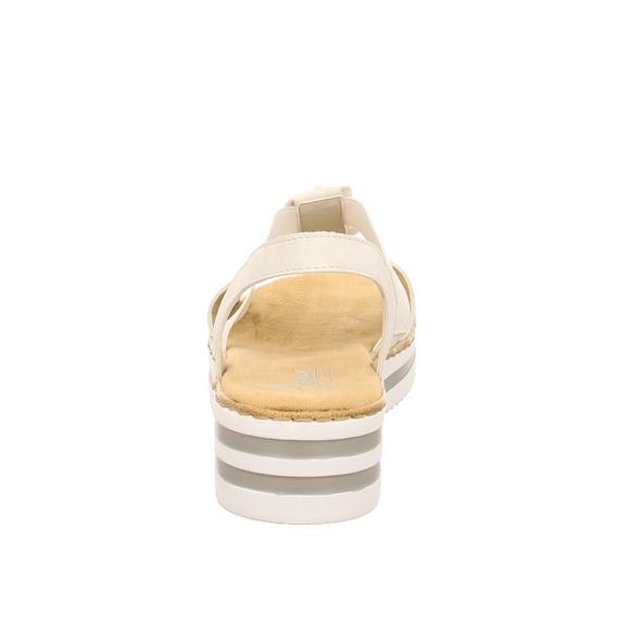 Rieker Damen V02C2-80 Graue Synthetik Sandalette