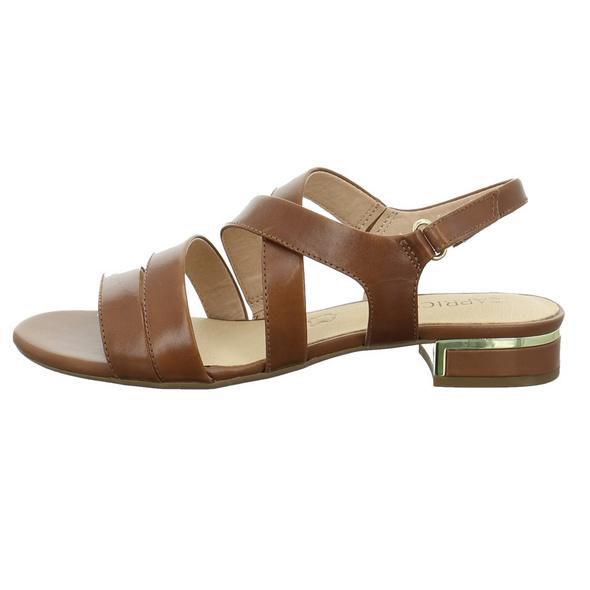 Caprice Damen 28100-350 Braune Glattleder Sandalette