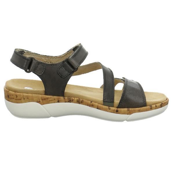 Remonte Damen R6850 Grüne Glattleder Sandale