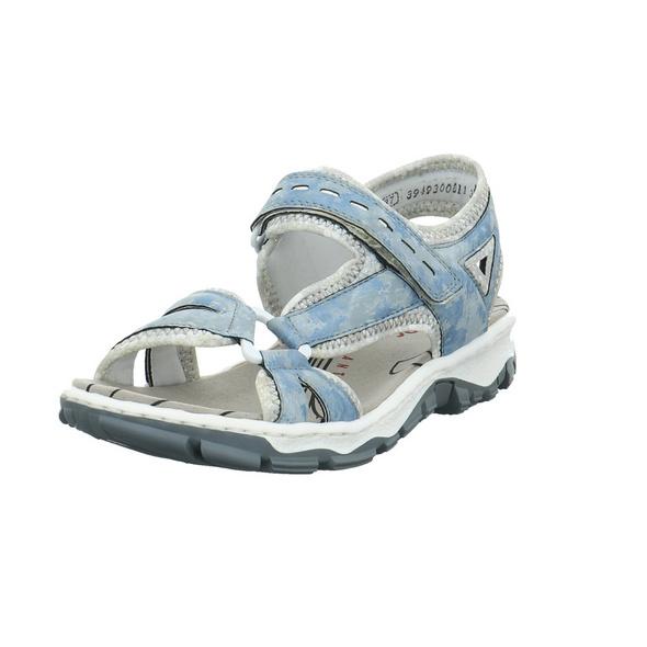 Rieker Damen 68879-12 Blaue Synthetik Sandale