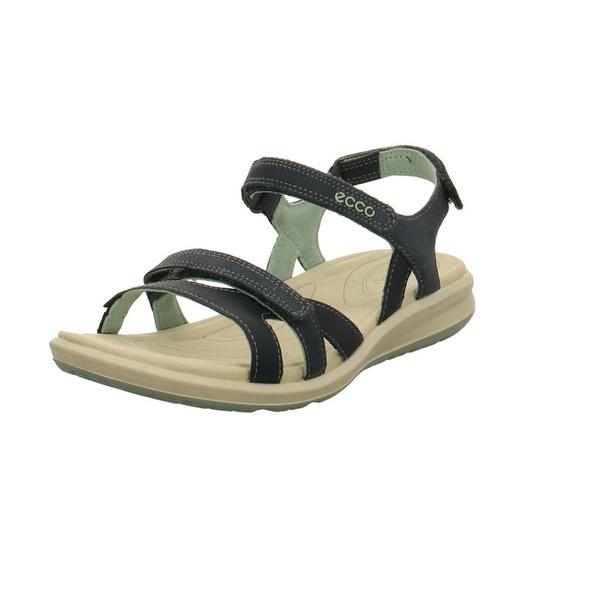 Ecco Damen Cruise II Blaue Glattleder Sandale