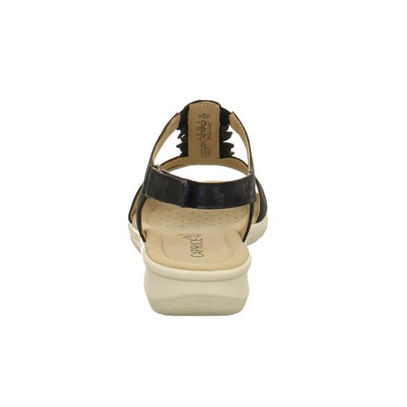 Caprice Damen 28151-862 Blaue Nubukleder Sandalette
