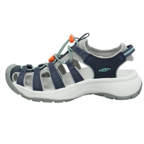Keen Damen Astoria West Blaue Synthetik/Textil Sandale