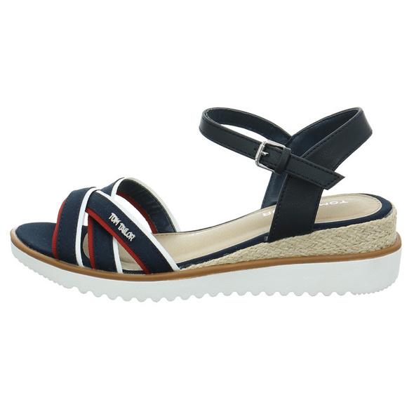 Tom Tailor Damen 8092903 Blaue Synthetik/Textil Sandalette