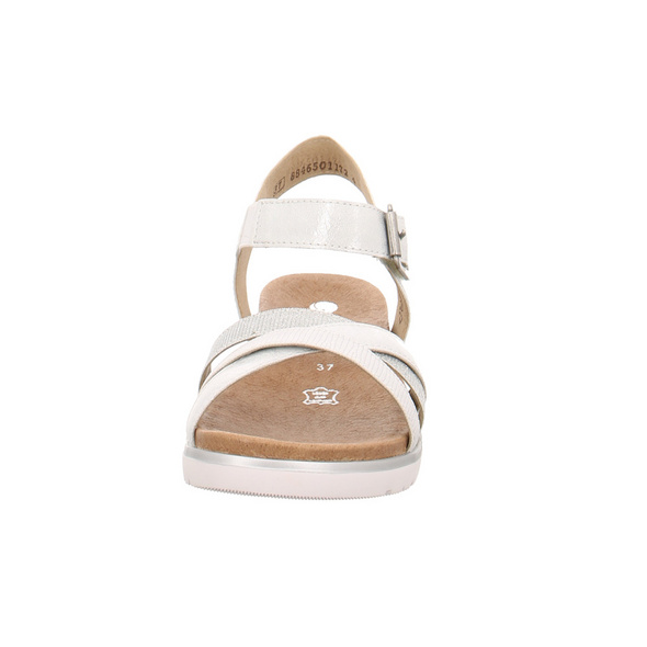 Remonte Damen D4052-90 Silberne Synthetik/Textil Sandale