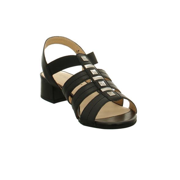 Caprice Damen 28204-022 Schwarze Glattleder Sandale