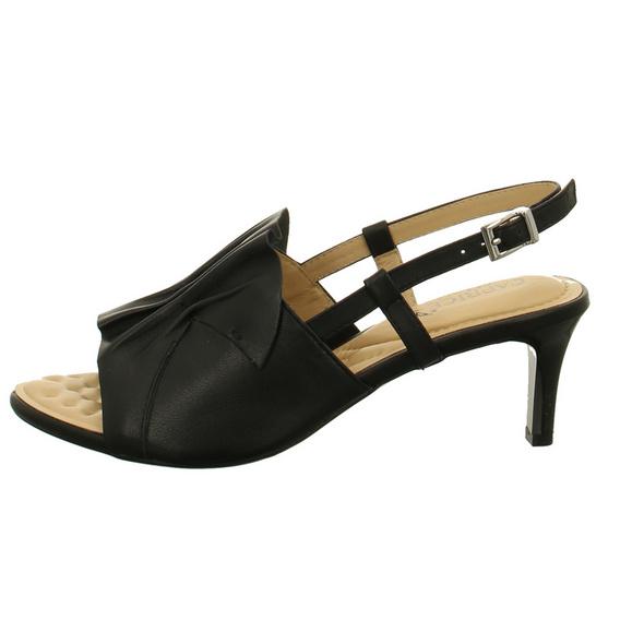 Caprice Damen 28317-022 Schwarze Glattleder Sandalette