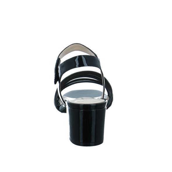 Tizian Damen Fallo 01 Schwarz Lack Sandalette