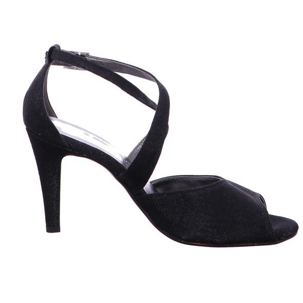 Vista Damen 31-F196 Schwarze Textil Sandalette