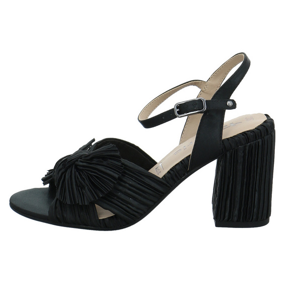 Tamaris Damen 28035-007 Schwarze Textil Sandalette