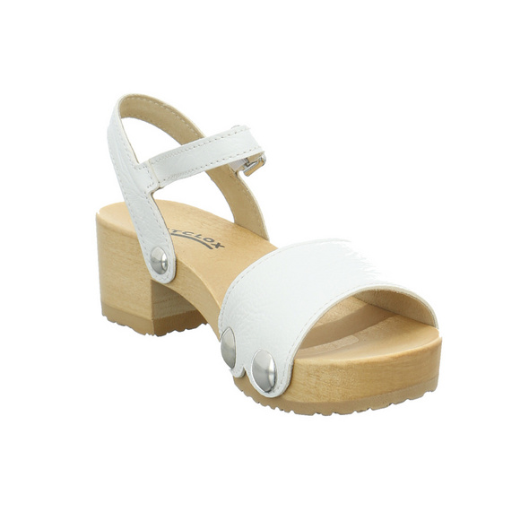Softclox Damen Penny Weiße Glattleder Sandalette