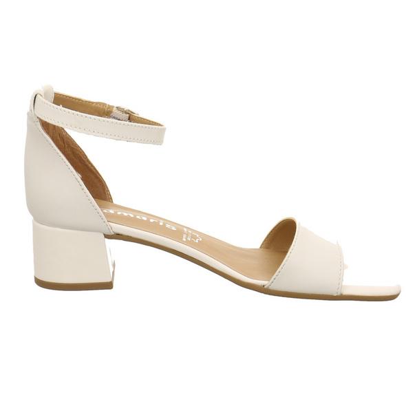 Tamaris Damen 28253-117 Weiße Glattleder Sandalette