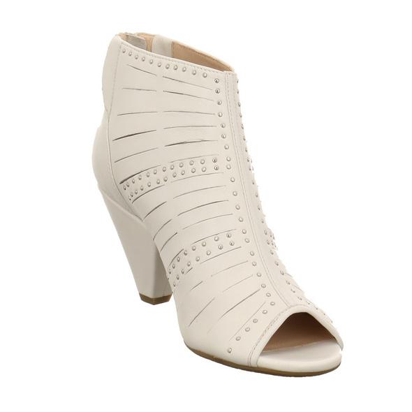 Tizian Damen Bibione 01 Weiße Glattleder Sandalette
