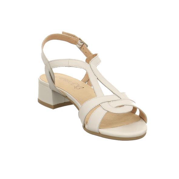 Caprice Damen 28201-139 Weiße Glattleder Sandalette