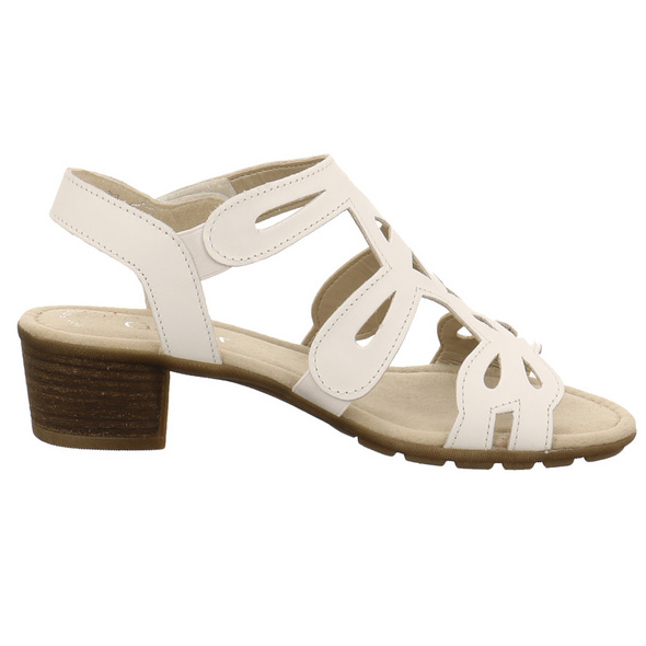 Gabor Damen 44-561-21 Weiße Glattleder Sandalette