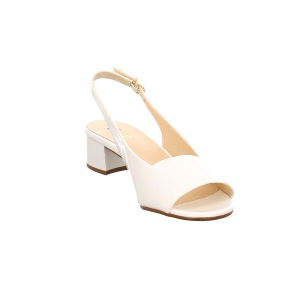 Högl Damen 5-102104-0200 Weiße Lackleder Sandalette