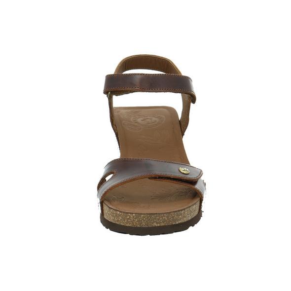 Panama Jack Julia Clay B1 Braune Glattleder Sandalette