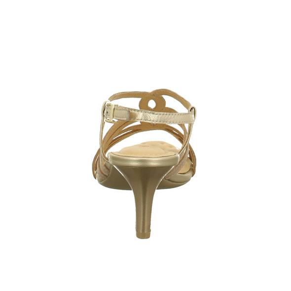 Caprice Damen 28318-408 Beigefarbene Glattleder Sandalette