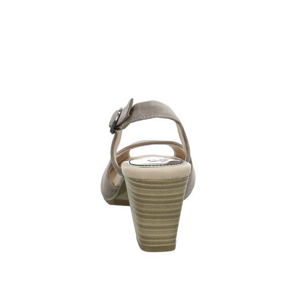 Gerry Weber Damen G13012-32-250 Beigefarbene Veloursleder Sandalette