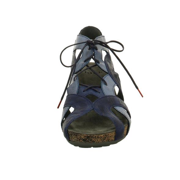 Think Damen Traudi 84576-90 Blaue Leder Sandalette