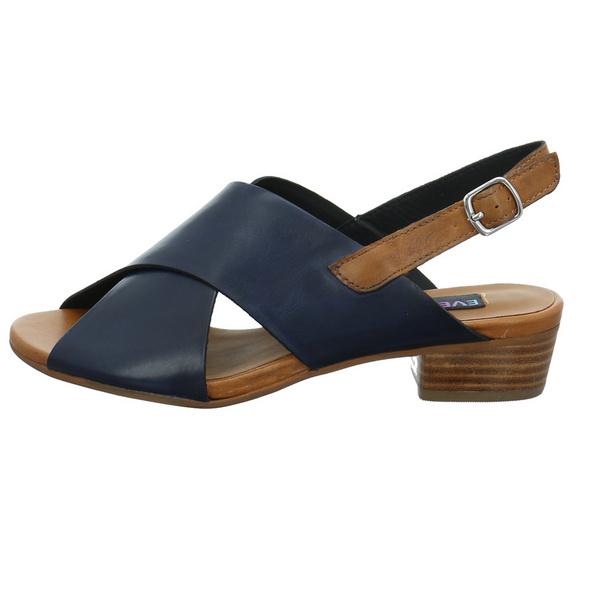 Everybody Damen Invidia Blaue Glattleder Sandalette