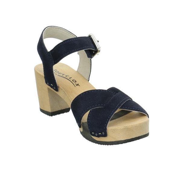 Softclox Damen 3517-REBEKKA-D Blaue Veloursleder Sandalette