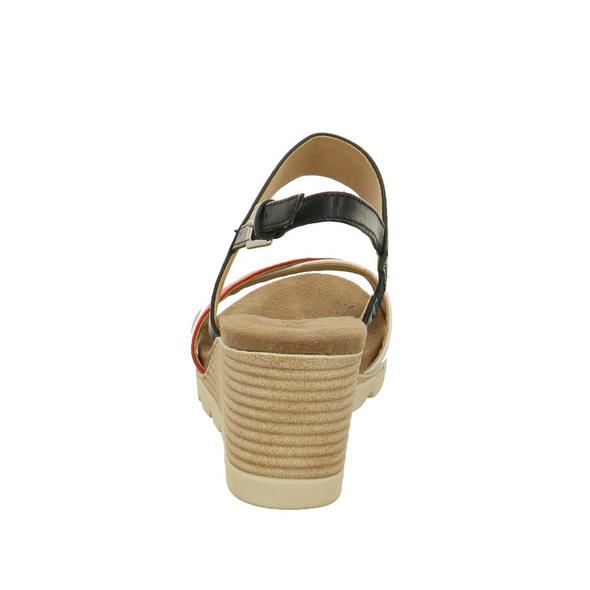 Caprice Damen 28316-893 Mehrfarbige Glattleder Sandalette