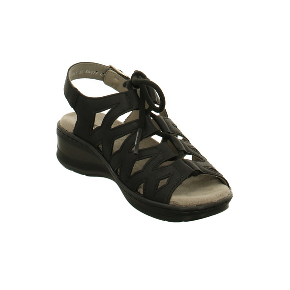 Jenny Damen - Korfu - Schwarze Synthetik Sandalette