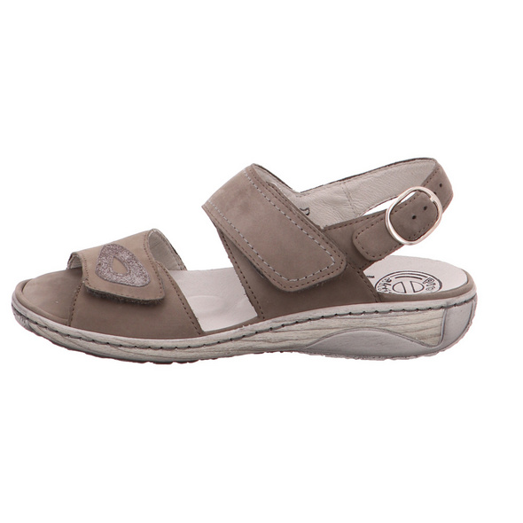 Waldläufer Damen Garda Graue Leder Sandale