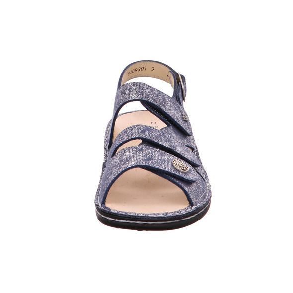 Finn Comfort Gomera 2562/553414 Blaue Glattleder Sandalette