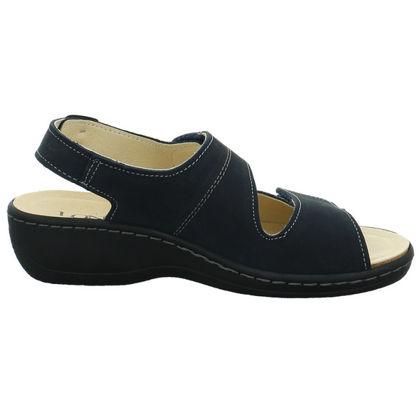Longo Damen 1019587 Blaue Veloursleder Sandalette