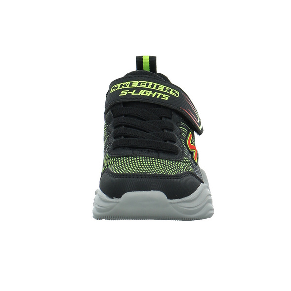 Skechers Kinder S Lights Erupters IV Schwarzer Synthetik Sneaker