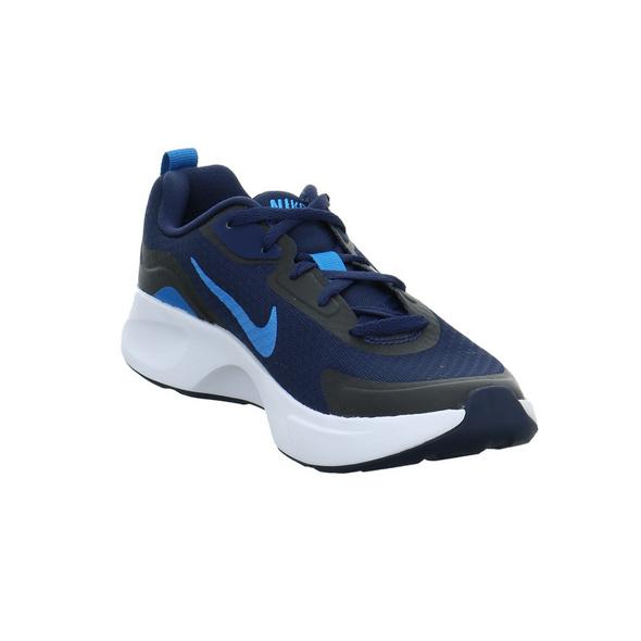 Nike Kinder Wearallday Blauer Synthetik/Textil Sneaker