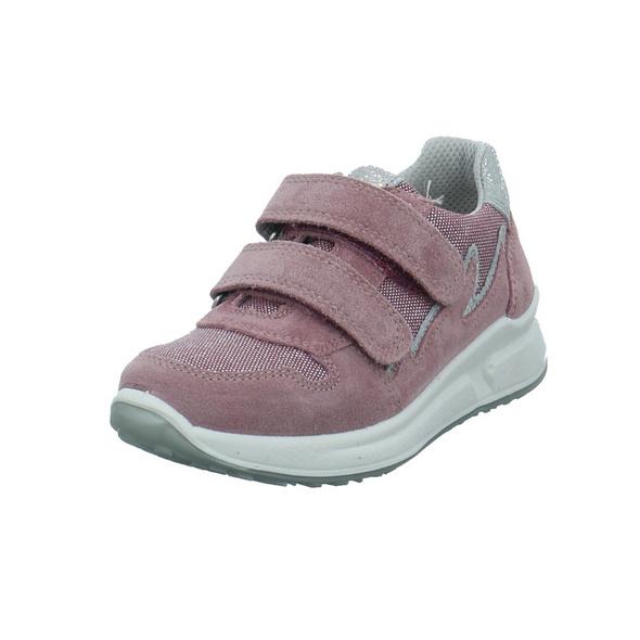 Superfit Kinder Merida Pink/Violetter Veloursleder Sneaker