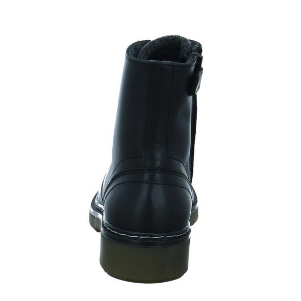 Bullboxer Kinder AOL501E6LG-BLBL Schwarzer Glattleder Boot