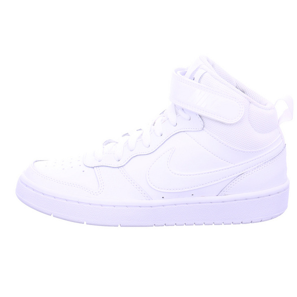 Nike Kinder Court Borough Mid 2 Weiße Glattleder Sneaker