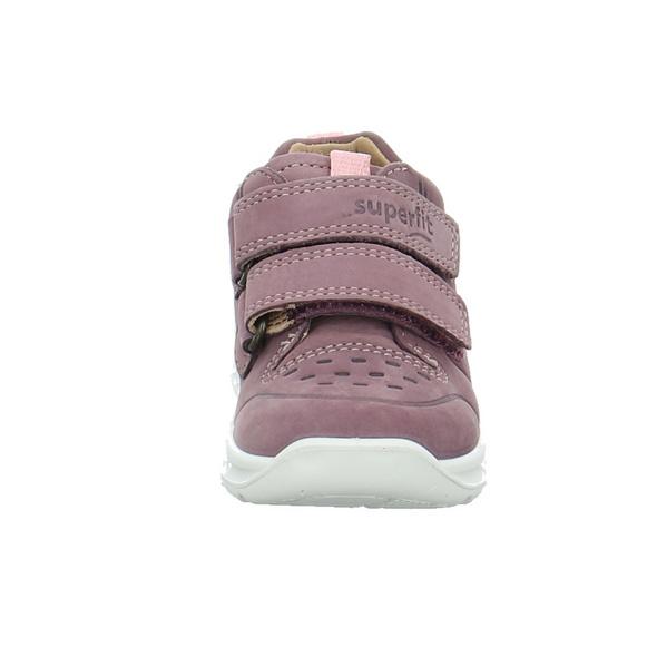 Superfit Kinder Breeze Pink/Violetter Veloursleder Lauflernschuh