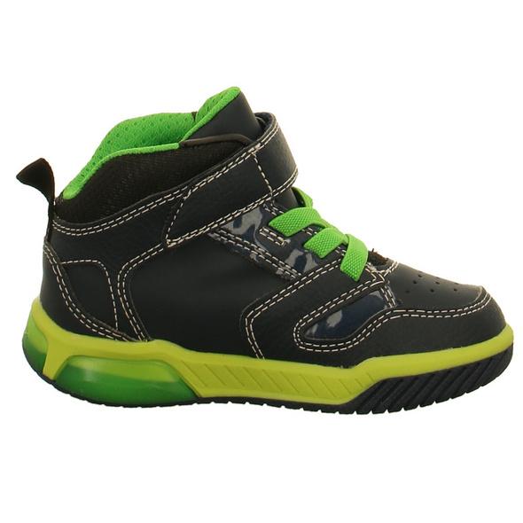 Geox Kinder J Inek Blaue Glattleder Boots