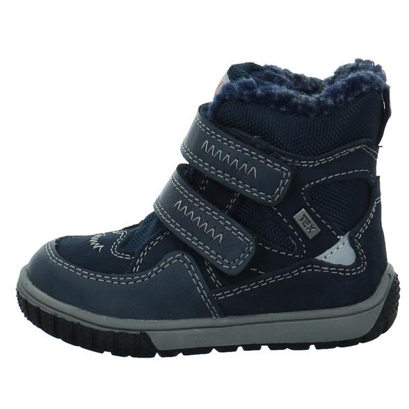 Lurchi Kinder Jaufen Blauer Materialkombinierter Winterstiefel mit Tex-Membran