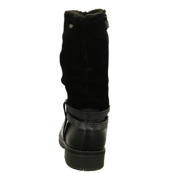Lurchi Kinder Lia-Tex Schwarze Glattleder Stiefel