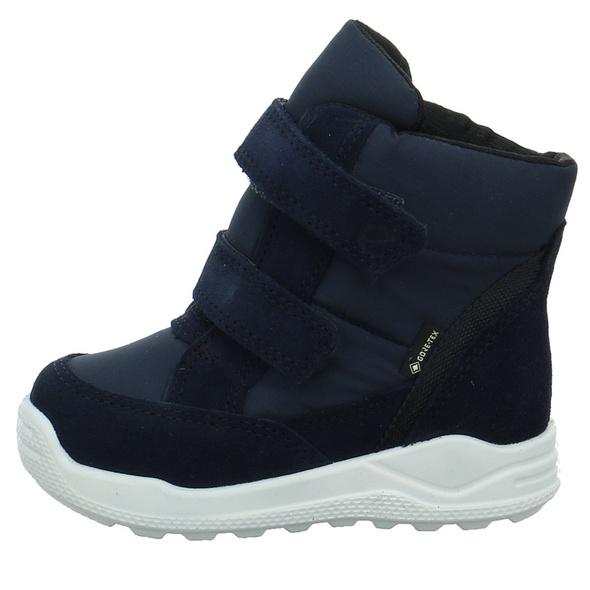 Ecco Kinder Urban Mini Blauer Leder/Textil Schneestiefel