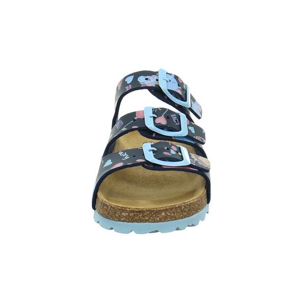 Longo Kinder 1072113 Blaue Synthetik Pantolette