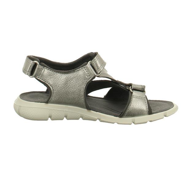 Ecco Kinder Intrinsic Silberne Perlatoleder Sandale
