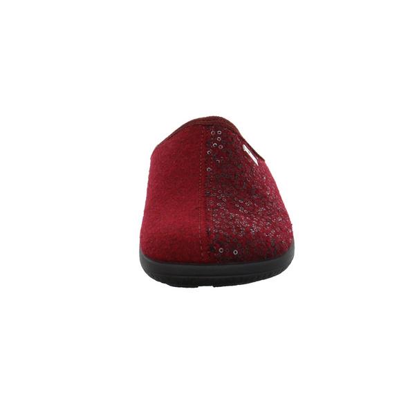 Rohde Damen 6550-48 roter Textil Pantoffel
