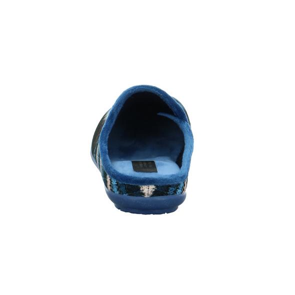 Venus at Home Damen 82021-21 blauer Textil Pantoffel