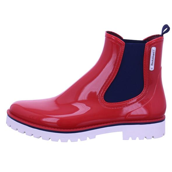 Bockstiegel Damen Oxford Roter Synthetik Regenstiefel