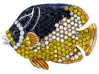 Brosche - Shocked Fish