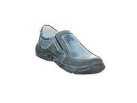 Krisbut Herren 5342-2 Blauer Glattleder Slipper