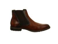 Bugatti Herren Letterio Braune Glattleder Chelsea Boots